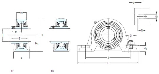 SKF SYM 1.11/16 TF bearing units