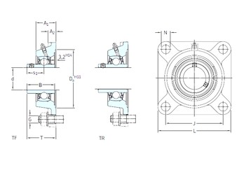 SKF FY 1.3/8 FM bearing units