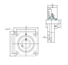 KOYO UCSF209H1S6 bearing units