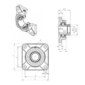SNR EXF319 bearing units