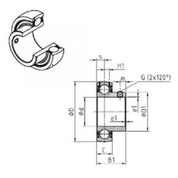 SNR US203-11 deep groove ball bearings