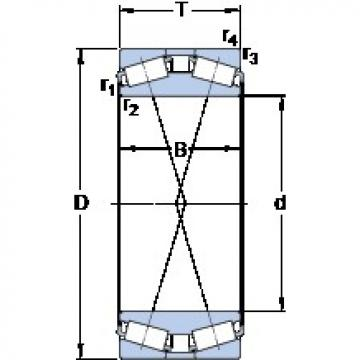 360 mm x 680 mm x 300 mm  SKF 331729 tapered roller bearings