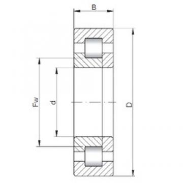 35 mm x 62 mm x 14 mm  ISO NUP1007 cylindrical roller bearings