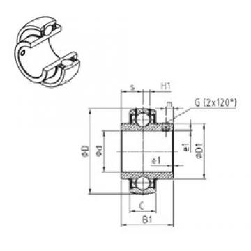SNR UC212 deep groove ball bearings