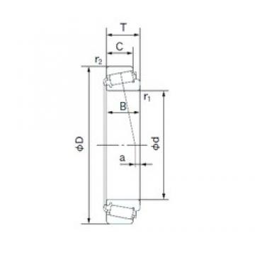 200 mm x 420 mm x 138 mm  NACHI 32340 tapered roller bearings