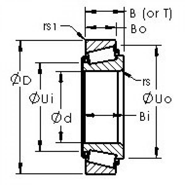 AST 15106/15345 tapered roller bearings #3 image