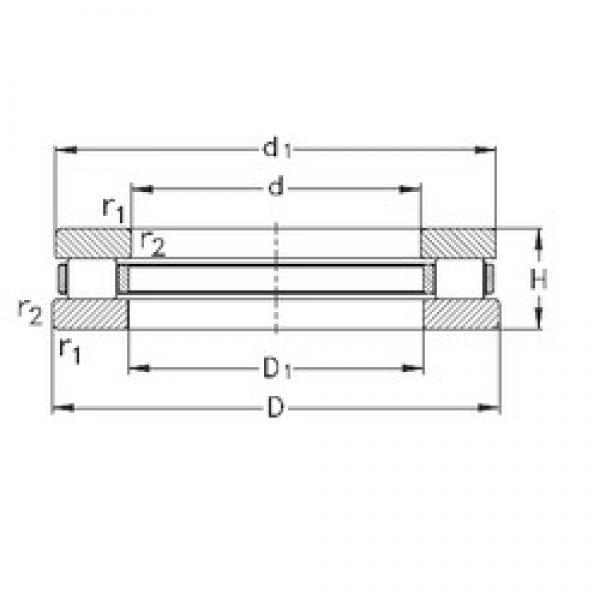 NKE 81206-TVPB thrust roller bearings #2 image