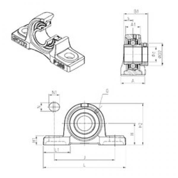 SNR EXP306 bearing units #1 image