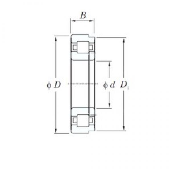 200 mm x 360 mm x 58 mm  KOYO NUP240 cylindrical roller bearings #2 image