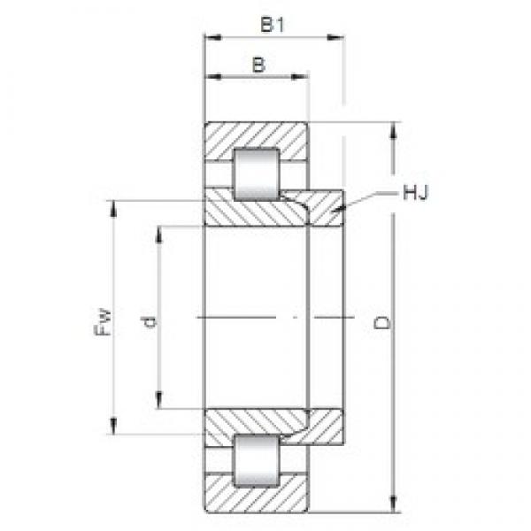 35 mm x 80 mm x 21 mm  ISO NH307 cylindrical roller bearings #2 image