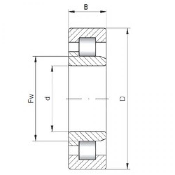 120 mm x 310 mm x 72 mm  ISO NJ424 cylindrical roller bearings #2 image