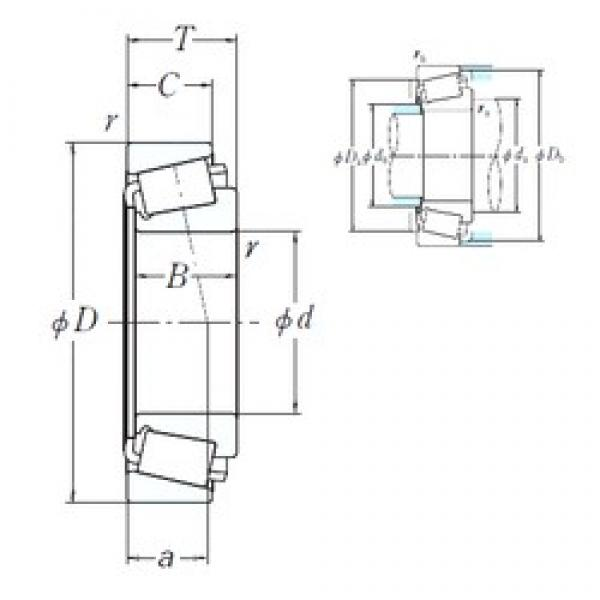 231,775 mm x 300,038 mm x 31,75 mm  NSK 544091/544118 cylindrical roller bearings #2 image